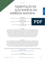 A Implementação Da Inovação Radicla Em Empresas Maduras