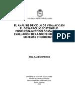 Analisis Del Ciclo de Vida en El Desarrollo Sustentable