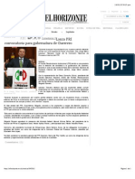 16-01-15 Lanza PRI Convocatoria Para Gubernatura de Guerrero