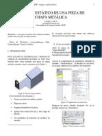 Analisis Estatico Pieza de Chapa Metalica_Juan Vanegas