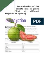 study of oxalate ion