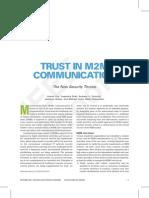 IEEE VTC Sept 2009 Trust in M2M Sept 2009