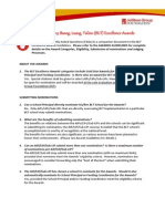 FAQs - BLT Excellence Awards