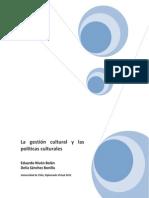 La gestión cultural y las políticas culturales