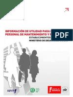 Información de utilidad para el personal de mantenimiento y producción