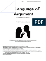 The Language of Argument for Teachers and Students