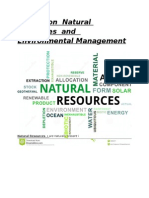 Report on Natural Resources and Environmental Management
