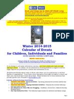 Calendar of Events - January 18, 2015