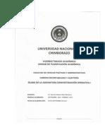 SILABO DE INVESTIGACIÓN OPERATIVA