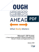 MoDOT Tough Choices Ahead Executive Summary