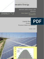 Optimal Cable Sizing in Photovoltaic Systems