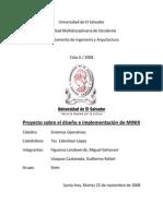 Diseno e Implementacion de MINIX