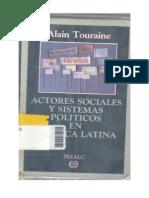 Touraine, A Actores sociales y sistemas políticos en AL -3-19-1987
