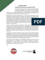 Declaración Conjunta entre Sindicato de trabajadores y FEUAH.