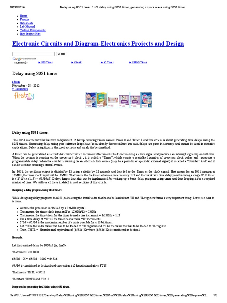 Timer Circuit Electronic Circuits And Diagramelectronics
