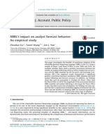 2014 - XBRL's Impact on Analyst Forecast Behavior ; An Empirical Study