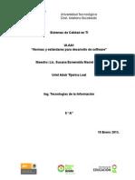 Normas y estándares para desarrollo de software
