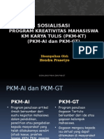 Sosialisasi Pkm Ai Gt 2015