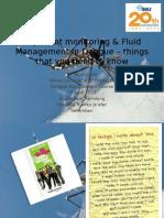 In-patient Monitoring & Fluid Management in Dengue _19 April 2012