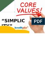 Core Value Simplicity