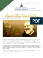 20 Consejos Del Padre Pio