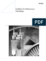 Best Practice Guideline for Maintenance Planning and Scheduling