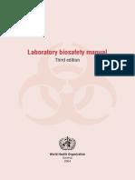 WHO Biosafety Manual