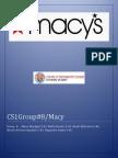 Strategy Analysis-MACY Inc