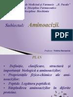 Aminoacizii biochimia
