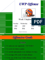 2002 UW-Platteville Spread Offense Implementation Week 1