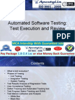 Test Execution and Review - Automated Testing