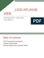 Teknologi Aplikasi Web