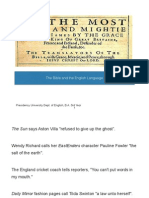 Bible and English Language