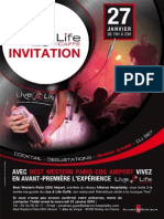 Invitation Soirée Live and Life Best Western Roissy