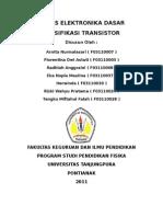Spesifikasi Transistor
