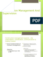 Construction Management and Supervision
