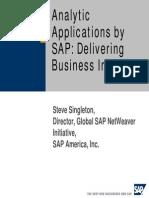 Singleton Analytic Applications
