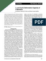 104-s49 Strength, Stiffness, And Cyclic Deformation Capacity