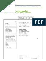 200 Useful Keyboard Shortcuts for AutoCAD 2012