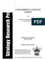 Prophet Mohammed by US Army Chief