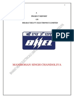 BHEL-project Report -Manmohan Singh Chandoliya