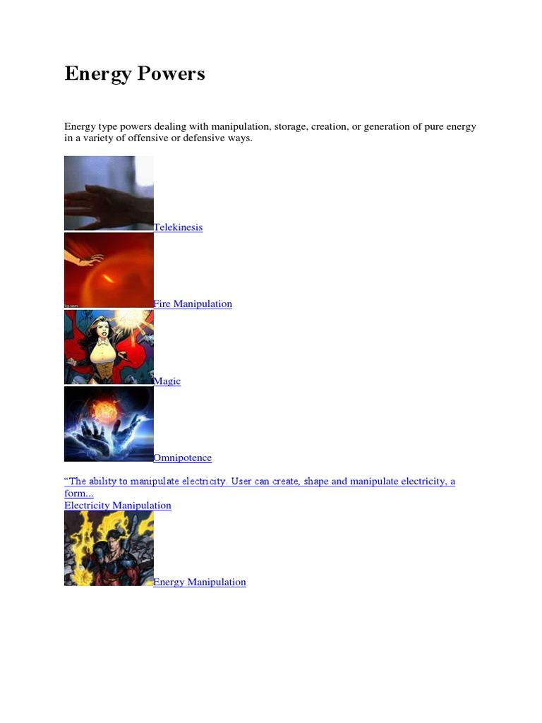 1List Energy Powers | Radiation | Plasma (Physics)