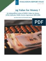 Measuring Value for Money