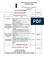 Acmes Research Convention Programme