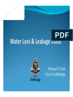 Water Loss Leakage Index