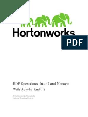HDPOps-ManageAmbari Docker GA Rev3   Apache Hadoop   Big Data