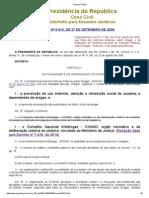 Decreto Nº 5912_06 SISNADrogas