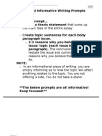 PSSA Released Informative Writing Prompts