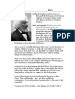 Frederick Douglass Worksheet