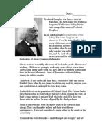 Frederick Douglass Worksheet